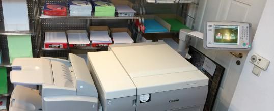 Unsere neue Druckmaschine die Canon imagePRESS