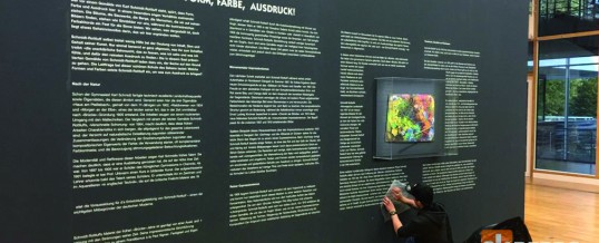 Klebearbeiten im Buchheim Museum der Phantasie <br />  SCHMIDT-ROTTLUFF. FORM, FARBE, AUSDRUCK